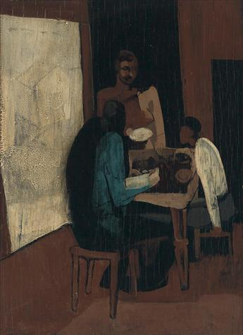 RONALD JOSEPH (1910 - 1992) Untitled (Family at th