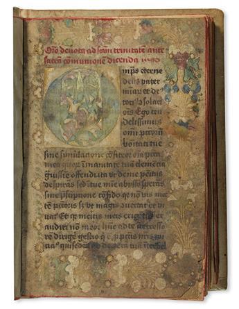 CATHOLIC LITURGY.  [Prayer book.]  Illuminated manuscript in Latin.  Northern Netherlands, later 15th century