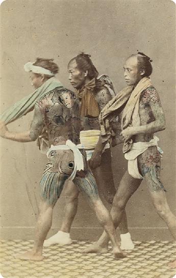 (CHINA & JAPAN--FELICE BEATO, JOHN THOMSON & F.W. SUTTON) An album containing 200 hand-colored cartes-de-visite, including occupational