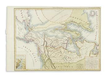 (ARCTIC.) Lapie, Chevalier de. Carte dune Partie de LOcean Arctique et de LAmerique Septentrionale.