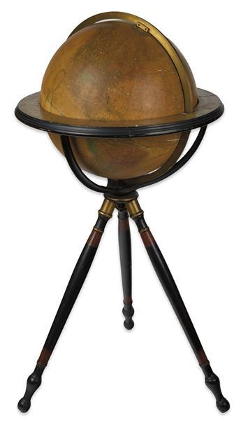 (GLOBE.) Joslin, Gilman. 16-inch terrestrial library globe.