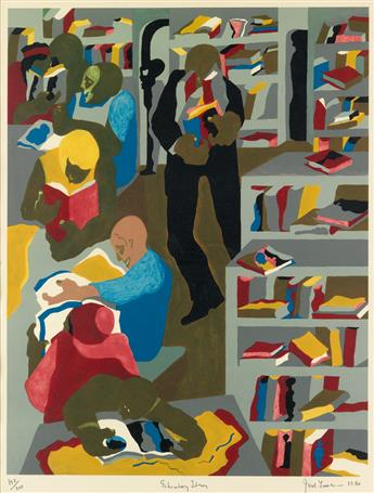 JACOB LAWRENCE (1917 - 2000) Schomburg Library.