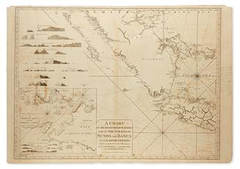 LAURIE, ROBERT; and WHITTLE, JAMES. A Chart of the South Part of Sumatra and of the Straits of Sunda and Banca with Gaspar Straits.