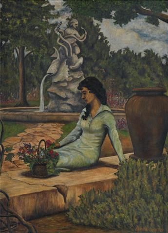 SAMUEL COUNTEE (1909 - 1959) Woman by the Fountain.