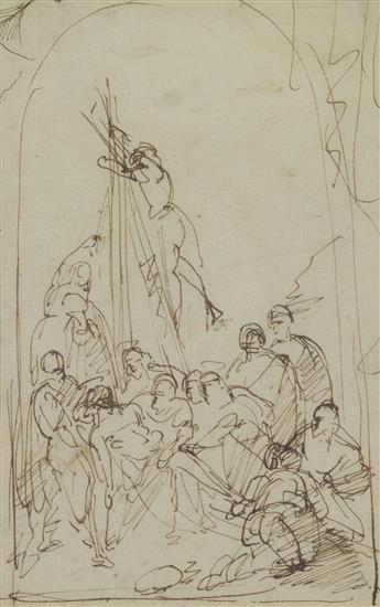 BIAGIO MARTINI (Parma 1761-1840 Parma) The Deposition.