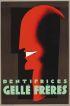 JEAN CARLU (1900-1997) DENTIFRICES GELLE FRERES. 1927/1980. 31x21 inches. Bedos, Paris.