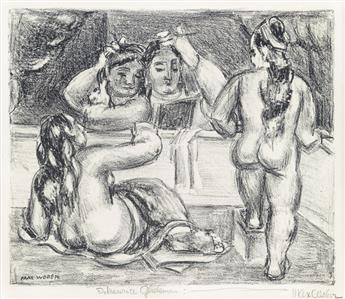 MAX WEBER Two lithographs.