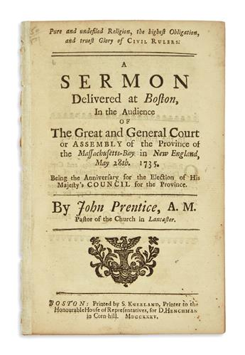 (EARLY AMERICAN IMPRINTS.) Group of 3 early Boston sermons.
