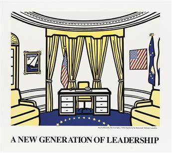 ROY LICHTENSTEIN (1923-1997). A NEW GENERATION OF LEADERSHIP. 1992. 34x38 inches, 86x96 cm.