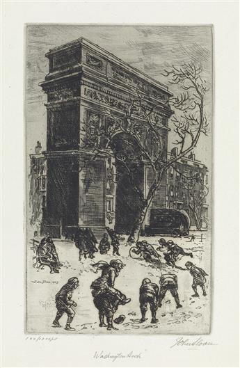 JOHN SLOAN Washington Arch.