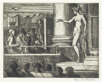 REGINALD MARSH Striptease in New Jersey.