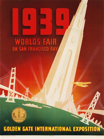 SHAWL, NYELAND & SEAVEY. 1939 WORLDS FAIR ON SAN FRANCISCO BAY / GOLDEN GATE INTERNATIONAL EXPOSITION. 1939. 35x26 inches, 90x67 cm. S
