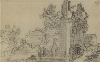 JAN VAN GOYEN (Leiden 1596-1656 The Hague) A Landscape with Ruins.