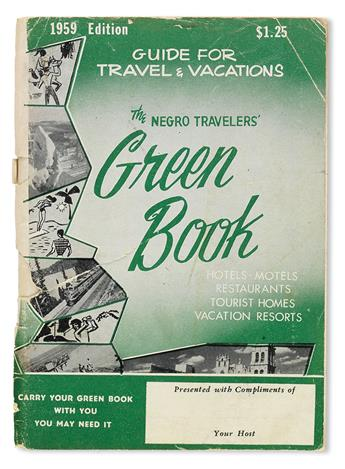 (TRAVEL.) GREEN, VICTOR. The Negro Travelers Green Book, Hotels, Restaurants, Tourist Homes, Vacation Resorts.