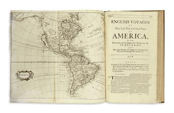 (EARLY EXPLORATION.) Harris, John. Navigantium atque Itinerantium Bibliotheca, or a Compleat Collection of Voyages and Travels.