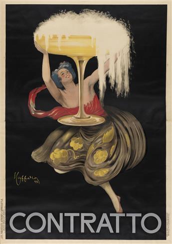 LEONETTO CAPPIELLO (1875-1942). CONTRATTO. 1922. 78x54 inches, 198x137 cm. Les Nouvelles Affiches Cappiello, Paris.