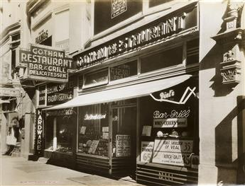 (NEW YORK CITY BARS & TAVERNS) A gigantic salesmans sample album, featuring 32 large-format photographs of post-prohibition drinking h