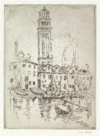 JOHN MARIN Campanile San Pietro, Venice.