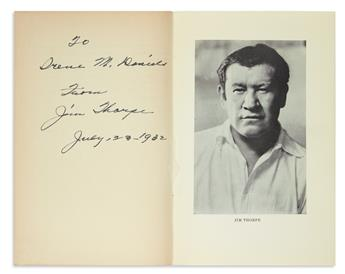 FIRST NATIVE AMERICAN TO WIN OLYMPIC GOLD MEDAL JIM THORPE. History of the Olympics. Signed and Inscrib...
