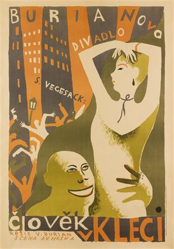 ALEXANDR VLADIMIR HRSKA (1890-1954). CLOVEK V. KLECI. 1925. 39x27 inches, 99x69 cm. V. Neubert, Prague.