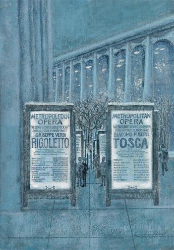 (THE NEW YORKER.)  LAURA JEAN ALLEN. Metropolitan Opera in the Snow.