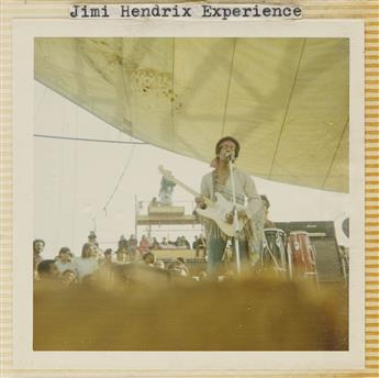 (SUMMER OF 69--WOODSTOCK & TORONTO POP FESTIVAL) Pair of albums with 245 candid photographs documenting one of the most historic summe