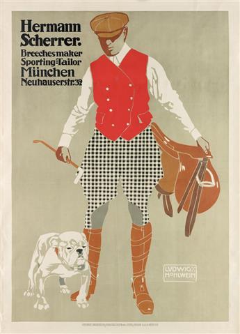LUDWIG HOHLWEIN (1874-1949). HERMANN SCHERRER. 1907. 43x31 inches, 110x79 cm. Schön & Maison, Munich.