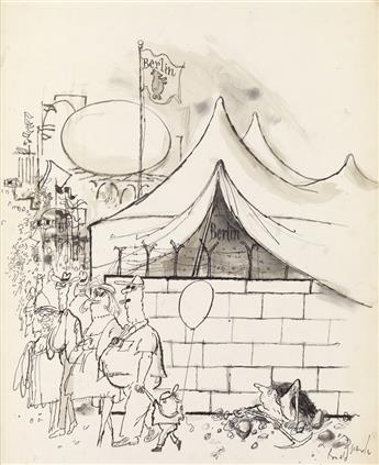 (CARTOONS / WORLDS FAIR.) RONALD SEARLE. New York Worlds Fair, Berlin Pavilion.