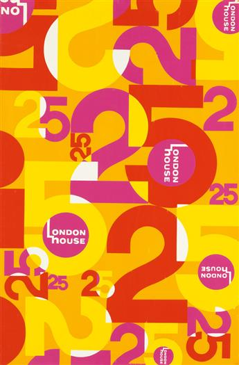 DESIGNER UNKNOWN. LONDON HOUSE 25. 1971. 34x22 inches, 88x57 cm.