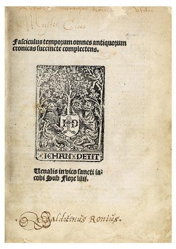 ROLEWINCK, WERNER. Fasciculus temporum.  1512