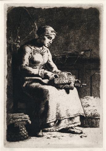JEAN-FRANÇOIS MILLET La Cardeuse.