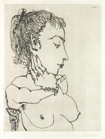 PABLO PICASSO Buste de Femme a la Queue de Cheval: Jacqueline.