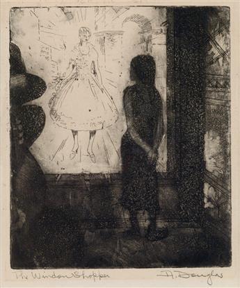 AARON DOUGLAS (1899 - 1979) The Window Shopper.