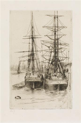 JAMES A. M. WHISTLER Two Ships.