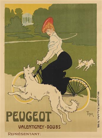 WALTER THOR (1870-1929). PEUGEOT VALENTIGNEY - DOUBS. 1905. 58x43 inches, 148x109 cm. G. Elleaume, Paris.