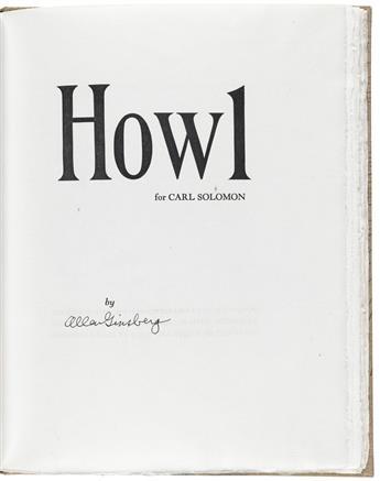 (GRABHORN PRESS.) Ginsberg, Allen. Howl for Carl Solomon.