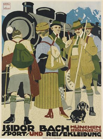 LUDWIG HOHLWEIN (1874-1949). ISIDOR BACH. 1912. 47x35 inches, 119x89 cm. Kunstanstalt Graphia, Munich.