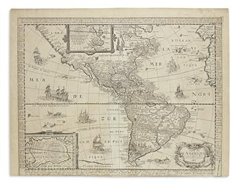 BEREY, NICHOLAS. Carte de lAmerique.