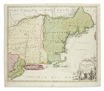 HOMANN, JOHANN BAPTIST. Nova Anglia Septentrionali Americae.