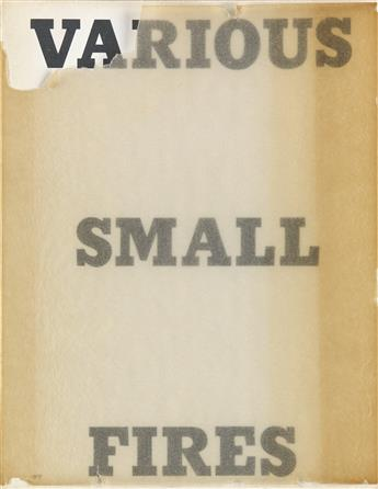 EDWARD RUSCHA. Various Small Fires and Milk.