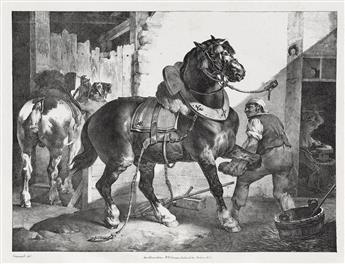 THÉODORE GÉRICAULT Études de Chevaux par Géricault.