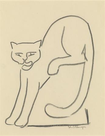 JOHN BERNARD FLANNAGAN Cat (Cat Descending from a Block).