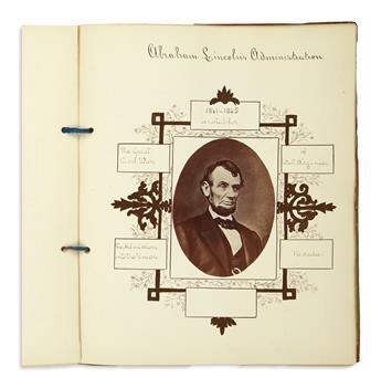 (PRESIDENTS--1900.) Presidents of the United States album.