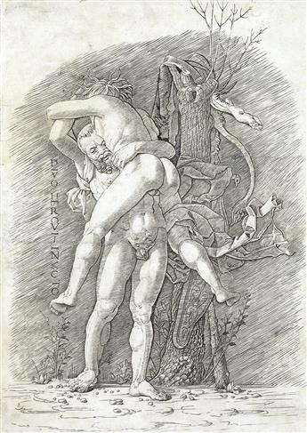ANDREA MANTEGNA (follower of) Hercules and Antaeus