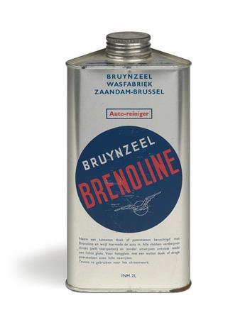 PIET ZWART (1885-1977). BRUYNZEEL BRENOLINE. Tin container. Circa 1948. 8x5 inches, 22x12 cm.