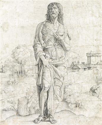 GIULIO CAMPAGNOLA Saint John the Baptist.