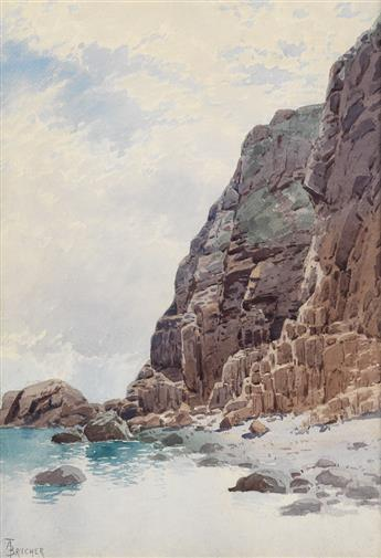 ALFRED T. BRICHER Rocky Coast.