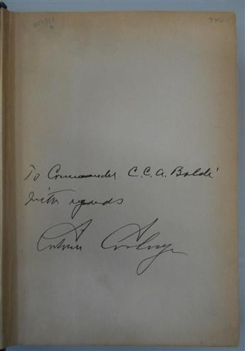 COOLIDGE, CALVIN. Have Faith in Massachusetts. Signed and Inscribed, To Commander C.C.A. Baldi / With regards,