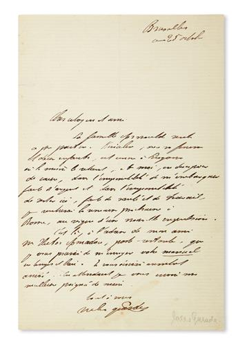 GUESDE, JULES. Autograph Letter Signed, to Dear citizen and friend, in French,