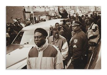 (CIVIL RIGHTS.) Thomas, Azim; photographer. Group of photographs of the Amadou Diallo protests.